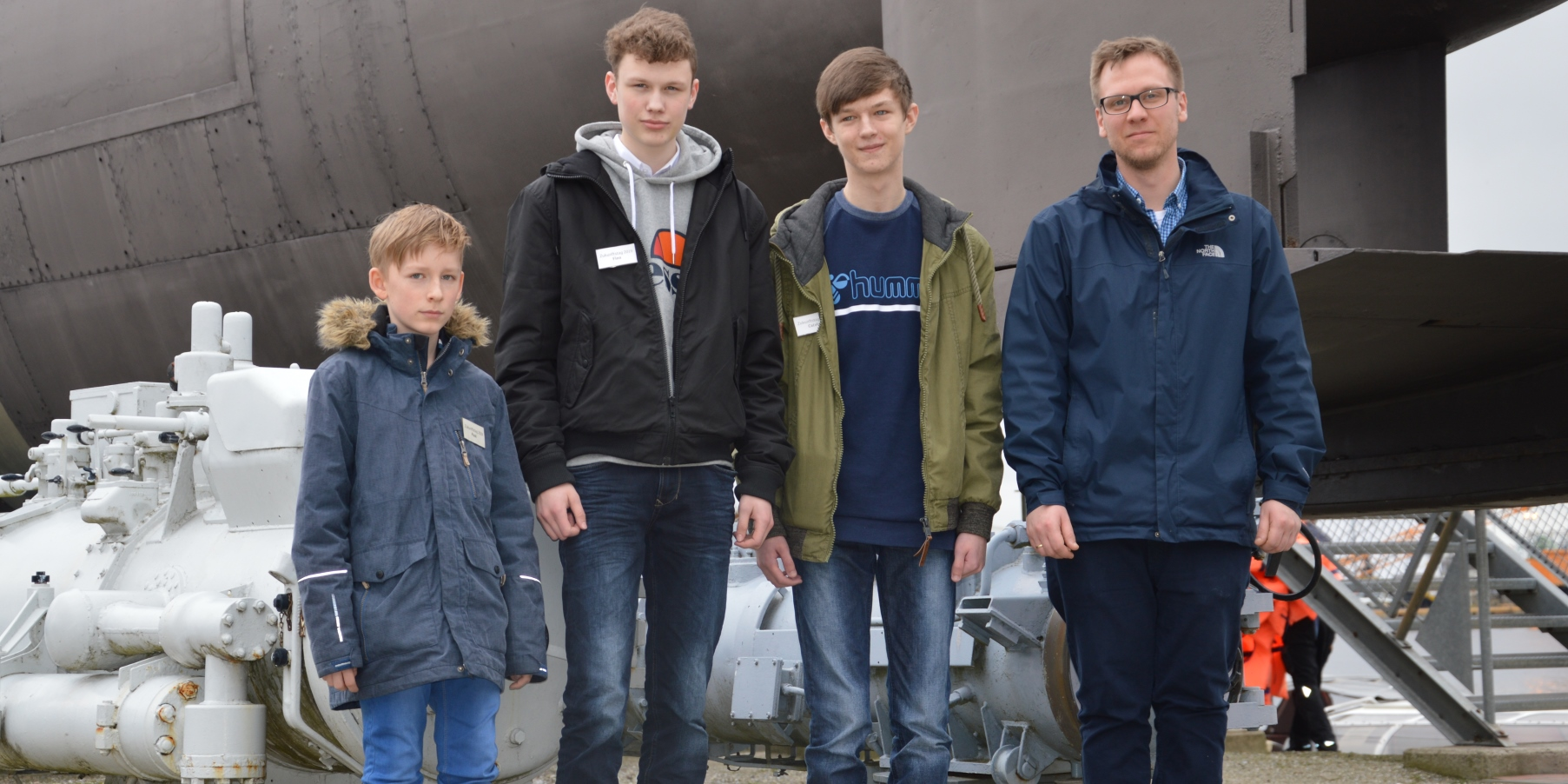 "Paul, Finn, Calvin und Daniel Hirschmann (DMM). Foto: Zukunftstagteilnehmer ""Jason"""