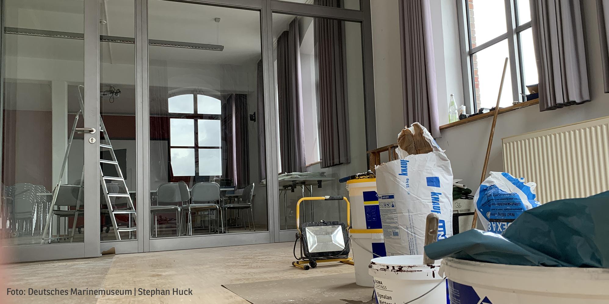 Umbau von Büroräumen (Foto: Deutsches Marinemuseum Stephan Huck)