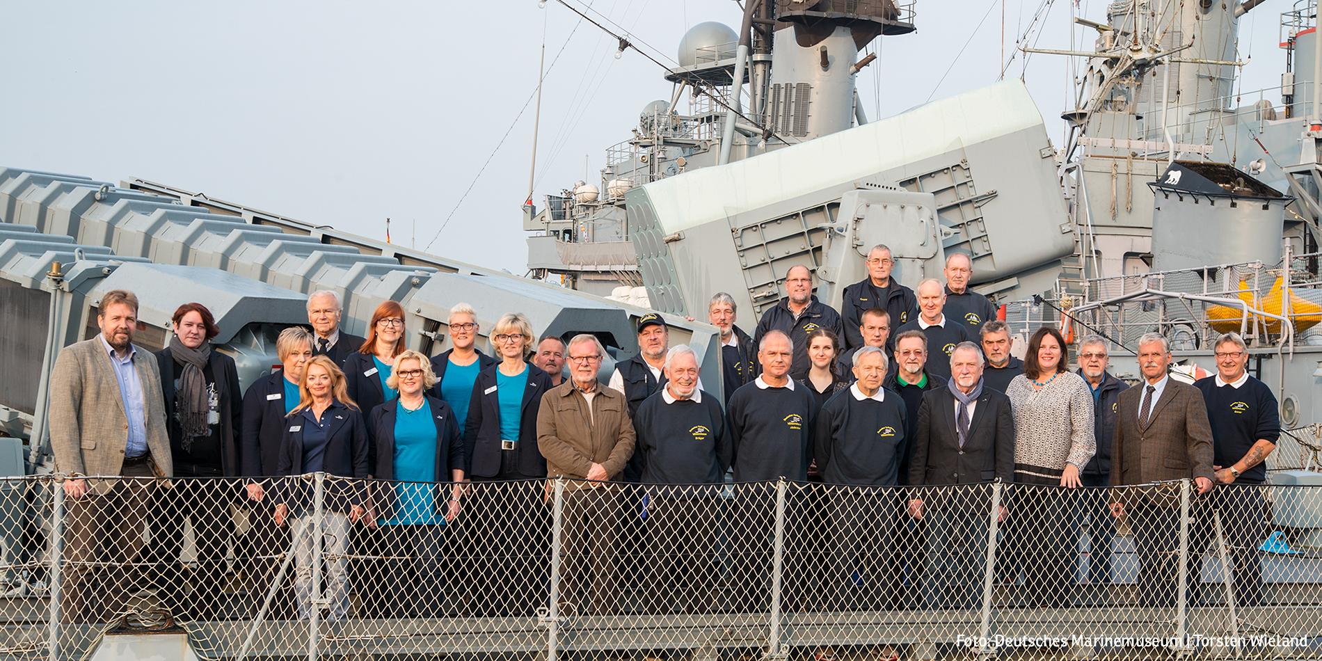 Mitarbeiter des DMM an Bord von S71 Gepard (Foto: Deutsches Marinemuseum, Torsten Wieland)