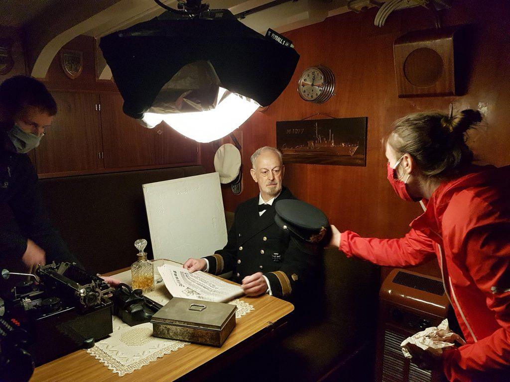 Dreharbeiten an Bord Weilheim